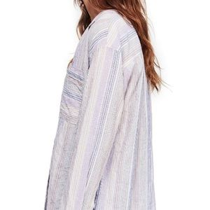 Free People Striped Button Shirt